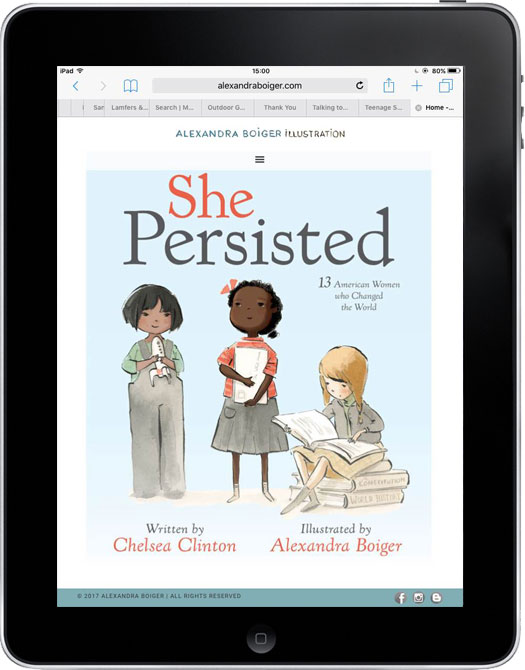 Alexandra Boiger's website, She Persisted